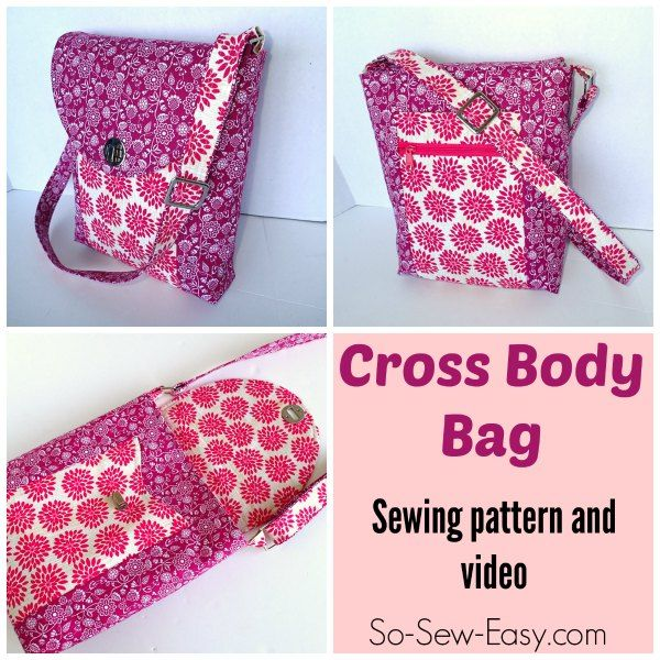 Carry everything you need and stay hands free with this handy Cross Body Bag pattern.