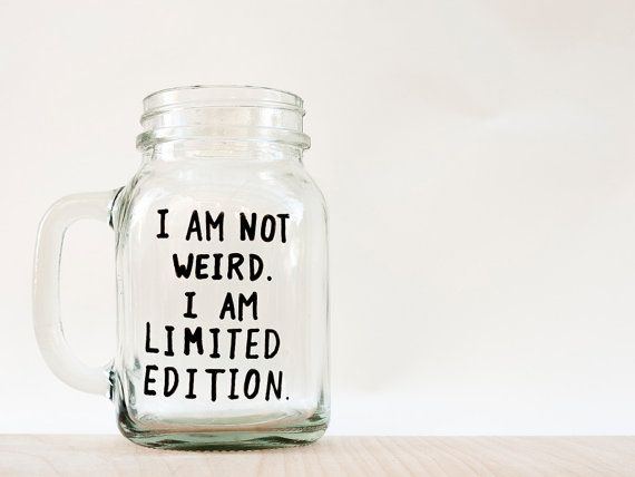 Funny Mug // Funny Mason Jar Mug // I am not by AvonnieStudio, $23.79
