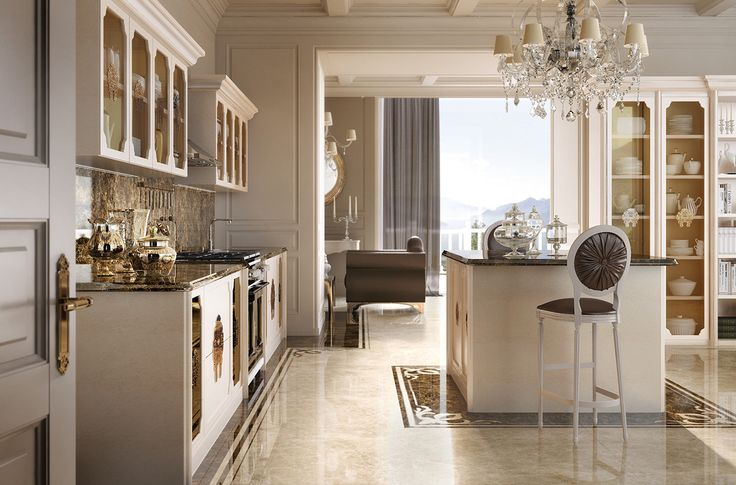 GIUSTI PORTOS produzione cucine classiche per arredamento sala da pranzo classica