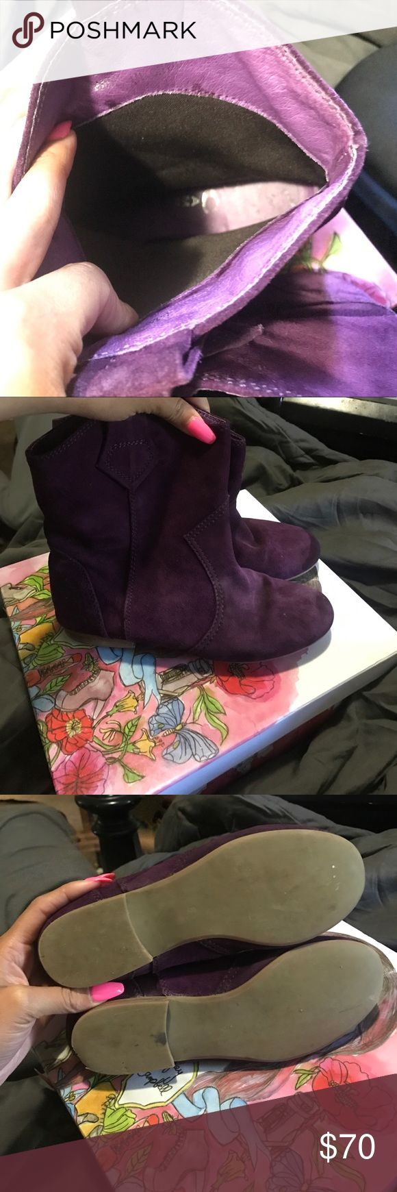 Purple Jeffrey Campbell cowboy boots Purple Jeffrey Campbell boots gently used. willing to except offers Jeffrey Campbell Shoes Ankle Boots & Booties