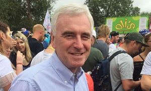 John McDonnell participated in a panel debate about the success of democracy at Glastonbury