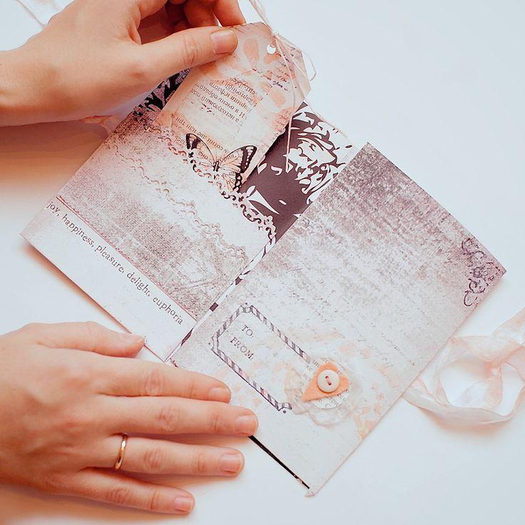 Кармашек для открытки для денег