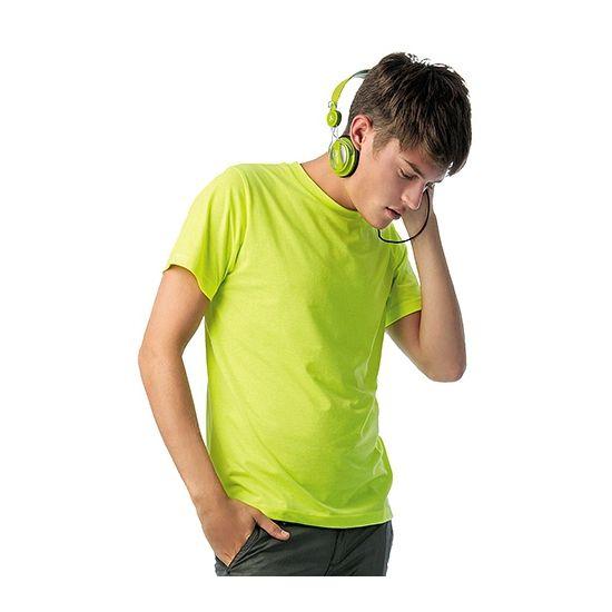 Neon gele t-shirts heren  Heren t-shirts met ribgebreide halsboord in mooie felgele kleur. Het shirt met 145 grams kwaliteit is gemaakt van 65% polyester/35% katoen.  EUR 9.95  Meer informatie