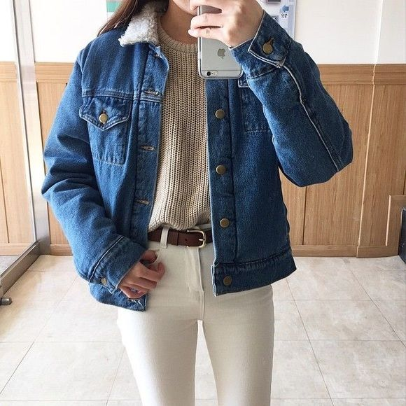 American apparel Sherpa denim jacket American apparel new with tags. Xxs unisex size, so it fits xxs-xs American Apparel Jackets & Coats Jean Jackets