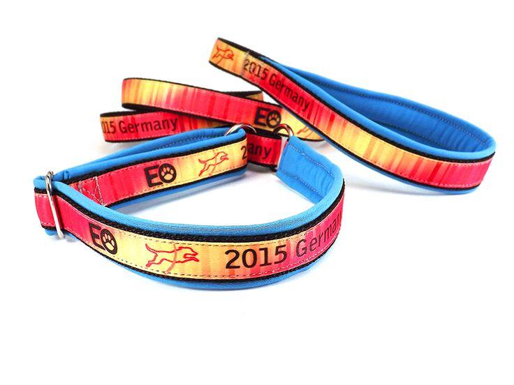 EO leash, with homemade ribbon / EO nyakörves póráz, saját készítésű szalaggal. #colorfundogs #eoleash