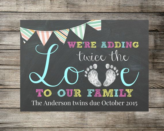 Twins Announcement  We're Adding Twice The by MariesDigitalDesigns