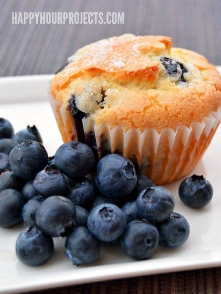 Gluten Free Blueberry-Lemon Muffins at www.happyhourprojects.com #BRMHolidays  #CleverGirls