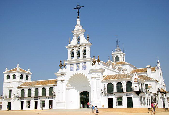 Ermita del Rocío  en Almonte (Huelva), Spain