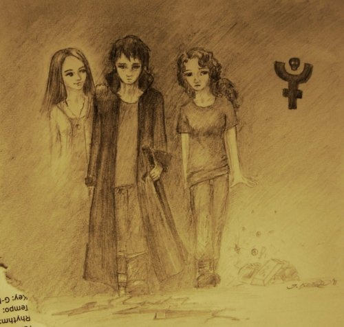 Bianca, Hazel Levesque and Nico di Angelo. This is amazing!!! It just looks awesome!!!