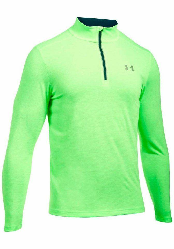 Under Armour® Sweatshirt »THREADBORNE STREAKER 1 4 ZIP« für 55,00€.  Laufshirt von Under Armour, Leichtes Material, Reflektierender Logodruck  bei OTTO fbf8721dcd