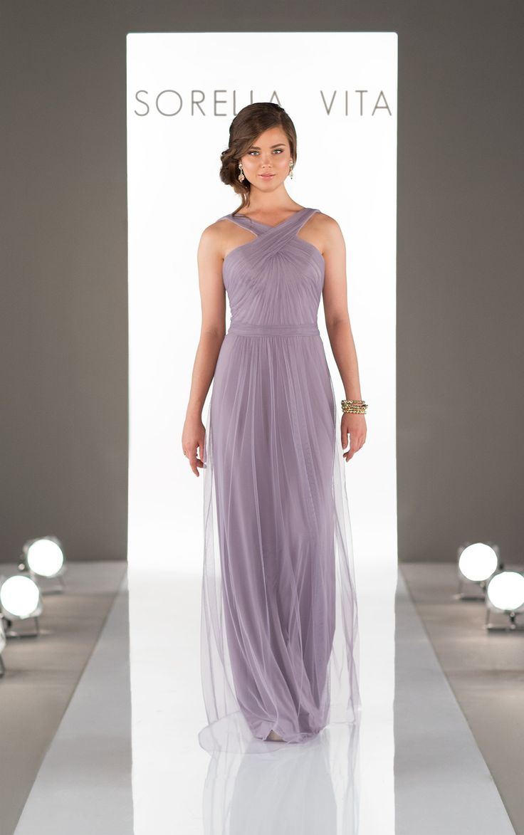 (IV3120) Featuring the new Soft English Net over Luxe Double Knit, this bridesmaid dress provides an air of ethereal romance without sacrificing comfort. The Luxe Double Knit underlayer provides a sweet, sheath shape to the gown, while the Soft English Net makes the perfect, flowingouter layer. Completed with a fun cross-strap neckline, this style is ideal …
