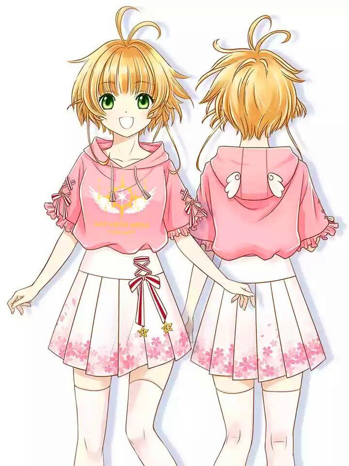 CardCaptor Sakura Unofficial Staff Illustration Inspired by Original Anime Kawaii Super Soft Crop Top Shirt