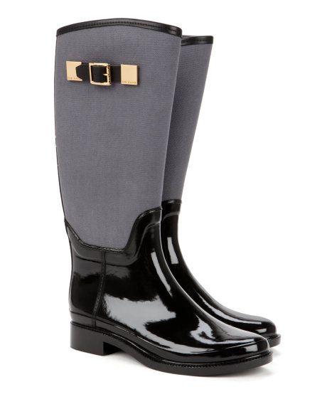 Ted Baker - Aug 2014 - Wellington boot - Black | Shoes | Ted Baker UK http://www.tedbaker.com/uk/Womens/Accessories/Shoes/FARVEL-Wellington-boot-Black/p/107721-00-BLACK