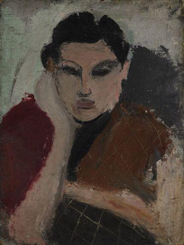 Portrait of a Woman - Arshile Gorky 1928
