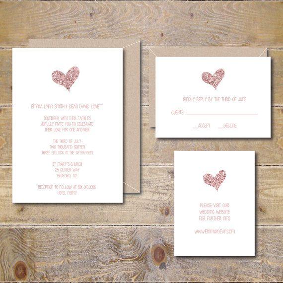 Printable Wedding Invitation DIY Wedding by SweetBellaStationery