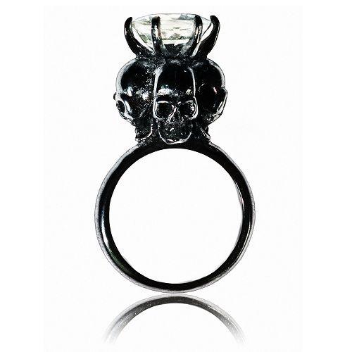 Four Skulls Ring (Green Amethyst)