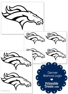 Printable Denver Broncos Logo Template from PrintableTreats.com