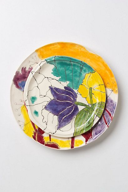 Palette-Sketch Dinnerware #anthropologie  Great way to welcome in the sunshine every morning..