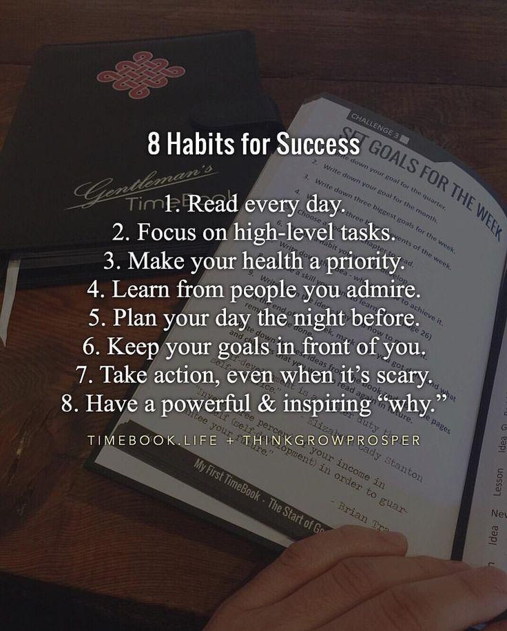 #8 Habits for success