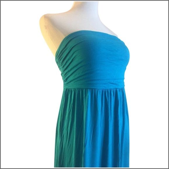 Teal Strapless Maxi Dress NWT Teal maxi dress. Measurements coming soon... Old Navy Dresses Maxi