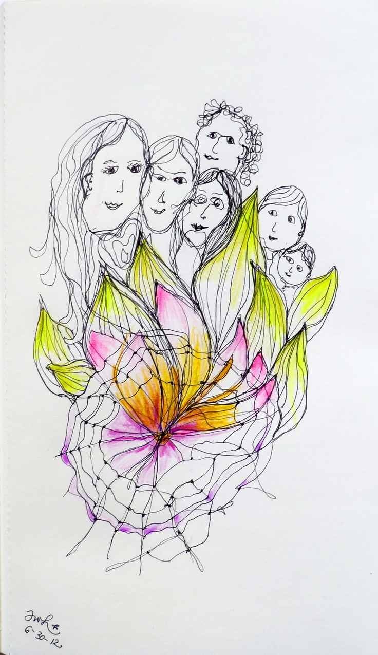 Passionate Connections - Channeled Drawing June 30 © Antonia Wibke Heidelmann, 2012, lifesparklinks.com #drawing #channel #art #illustration