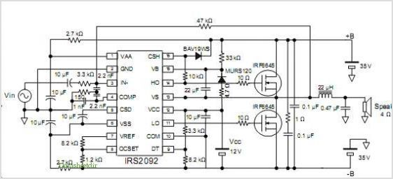 IRS2092 and IRS2092S Typical Application Circuit in 2020
