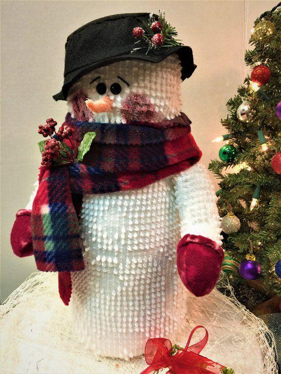 Snowmen Harriette Snowman Stuffed Snowman Holiday Decor Christmas Table Decor Christmas Decoration Christmas De Handmade Orange Handmade Handmade Felt