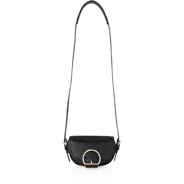 Whistles Bay Buckle Mini Crossbody (13.545 RUB) ❤ liked on Polyvore featuring bags, handbags, shoulder bags, black, crossbody purses, oversized handbags, mini shoulder bag, mini cross body purse and oversized purses