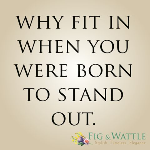 Why indeed. Happy Friday x #figandwattle #quotes #TGIF #standout #beyourself #loveyourself