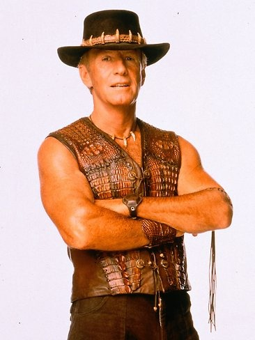 "Paul Hogan starred as Mick Dundee in the 1986 Australian comedy film ""Crocodile"" Dundee www.nerangrsl.com"