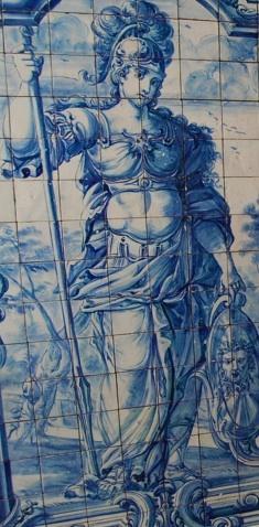 Infamous Blue Tile Art Lisbon Portugal