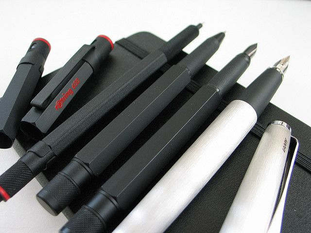 Pens | Rotring 600 mechanical pencil, Rotring 600 rollerball… | Flickr