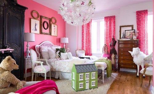 Idea: Girl Room, Kids Room, Girls Room, Girls Bedroom, Pink, Bedrooms, Bedroom Ideas, Accent Wall