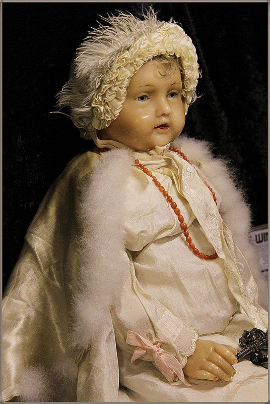 "- antike Wachspuppe, ""the doll in the window"", wax doll - 66cm, London/Glasgow - Sammlung Lommel"