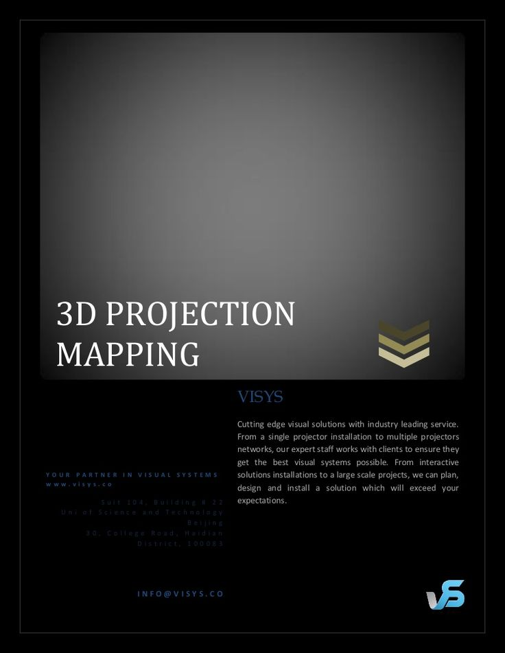 visual-systems-3-d-projection-mapping by Seher Khan via Slideshare