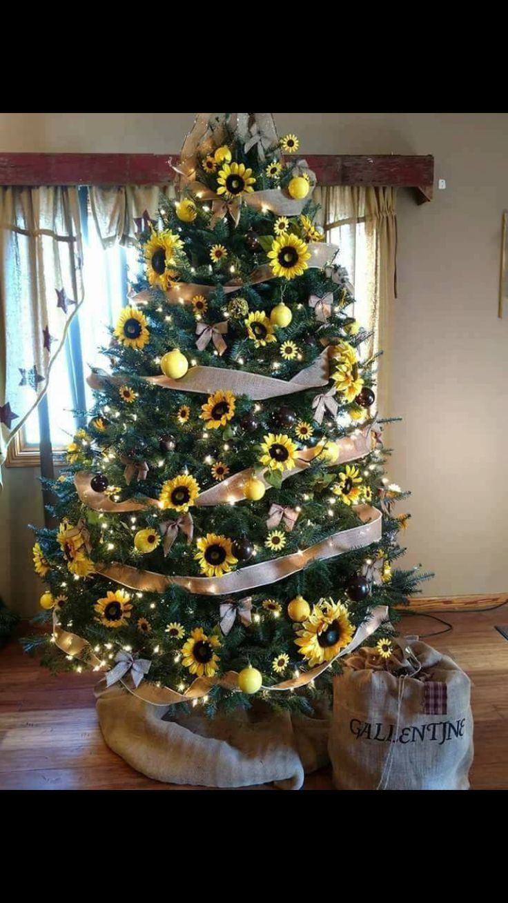 Pin by Aileen Dowling on Sunflower love Christmas tree
