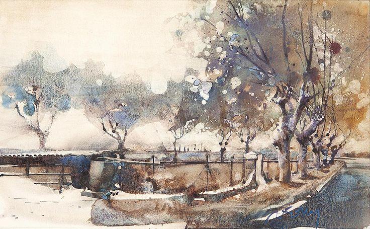 Marc Folly landscape watercolor