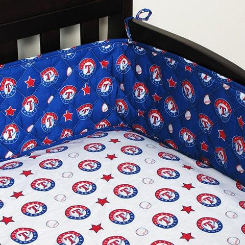 Use this Exclusive coupon code: PINFIVE to receive an additional 5% off the Texas Rangers Baby Crib Bumper at SportsFansPlus.com