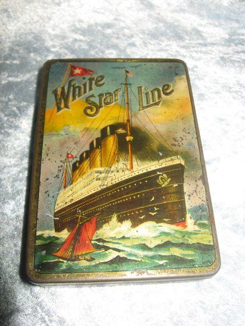 vintage cigarette tin ~ White Star Line built the Titanic