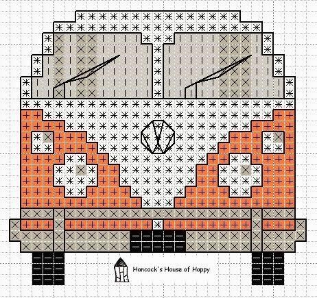 Tutoriales y DIYs: Punto de cruz - Furgoneta Volkswagen