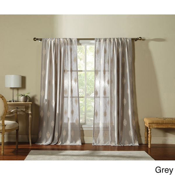 Sebastian by Artistic Linen 55-inch Wide 84-inch High Window Curtain Panel with Rod Pocket