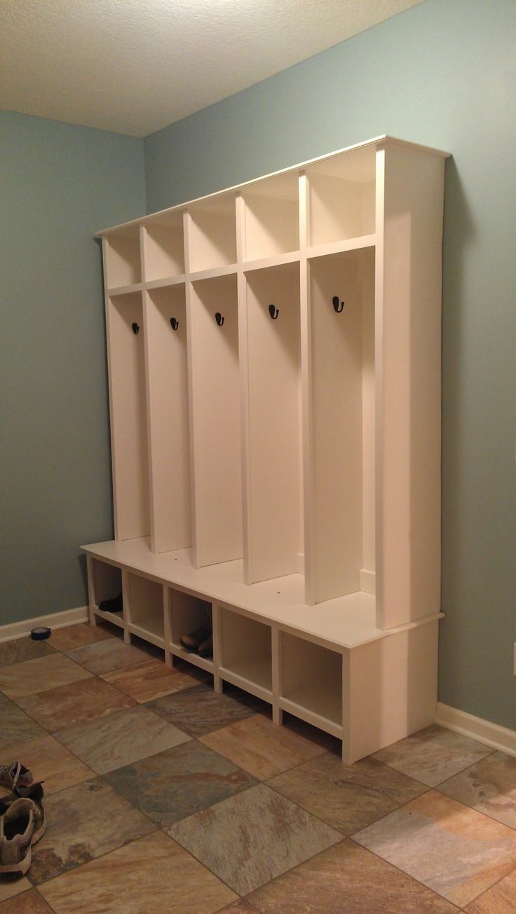 300 best images about kitchen nook to mudroom on pinterest Hallway lockers for home