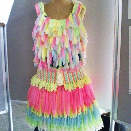 vestidos hechos de reciclaje 2 Vestidos hechos de reciclaje