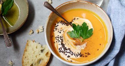 Суп из сладкого картофеля с сыром чеддер - кулинарный пошаговый рецепт с фото на KitchenMag.ru
