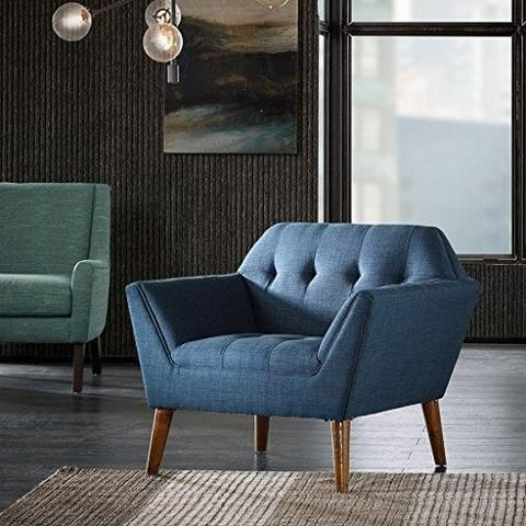 Best Mid Century Modern Upholstery Button Accent Chair 400 x 300