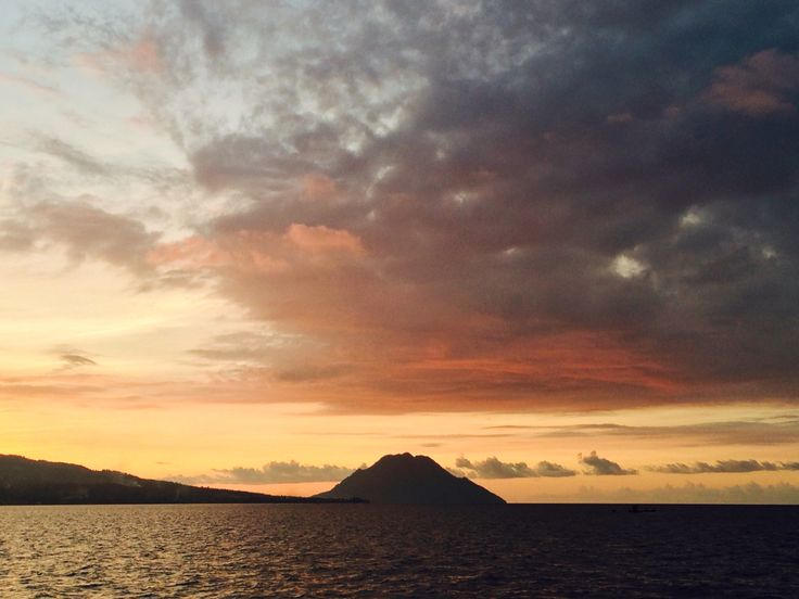 Beautiful sunset taken in the middle of Moluccas Sea