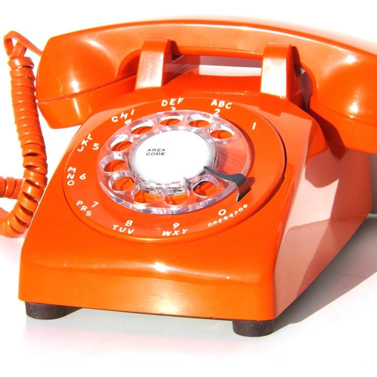 vintage desk phone orange by henry dryfuss vintage keepers pinterest. Black Bedroom Furniture Sets. Home Design Ideas