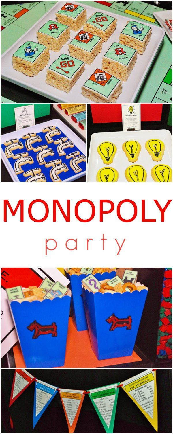 Best board game ever! Monopoly Party ideas :)