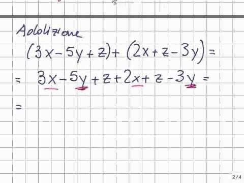 Video Lezione: Operazioni con i polinomi