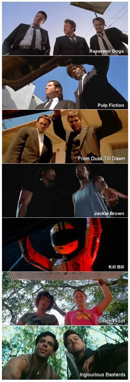 Trunk-view cams from Quentin Tarantino's Reservoir Dogs (1992), Pulp Fiction…